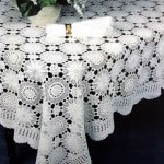 Snow Flake Crochet Lace tablecloth