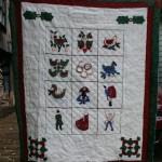 12 days of XMas quilted Wall Hanging