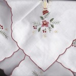 Candlelight Christmas motif Bun Warmer beautifully embroidered on cotton rich fibre.