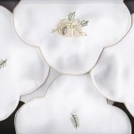 Beautifully embroidered Presents on easy care Polyester is a refreshing motif throughout the entire holiday season. Economically priced: