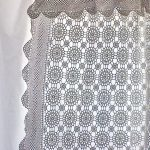 Crochet Lace Curtain Panel- a DIY no-sew handmade tablecloth