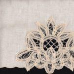 Lotus Batten Lace Guest-Towels- Ecru colour only.