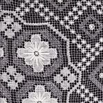 Tuscany Lace tablecloth close up image