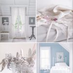 White Cotton curtain panels for a relaxed & intimate cottage look.