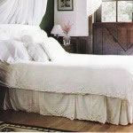 Cutwork Rose duvet cover and bedskirt