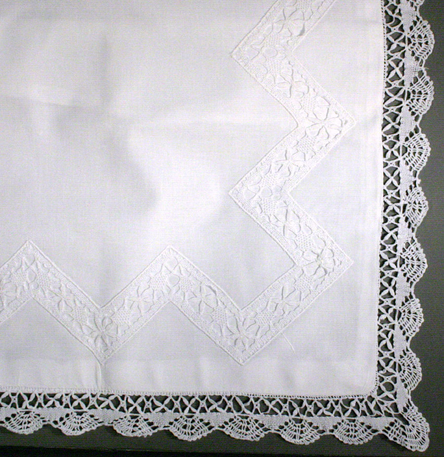 Cluny Lace cushion cover with cluny lace insert-Garden Path