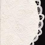 Solid Battenburg lace cushion in a round shape- cream colour.