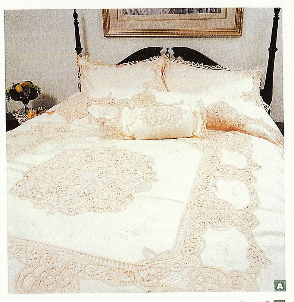 Elite Battenburg Lace duvet cover Ecru and/or White colours
