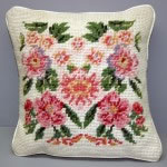 Woolen Needlepoint Monet cream cushion cover