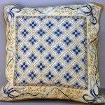 Woolen Needlepoint Laura Ashley Blue cushion cover
