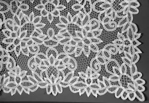Solid Battenburg Lace tablecloth