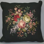 Woolen Needlepoint Roses and Primrose cushion cover