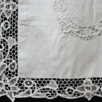 Royal Battenburg Lace cushion cover