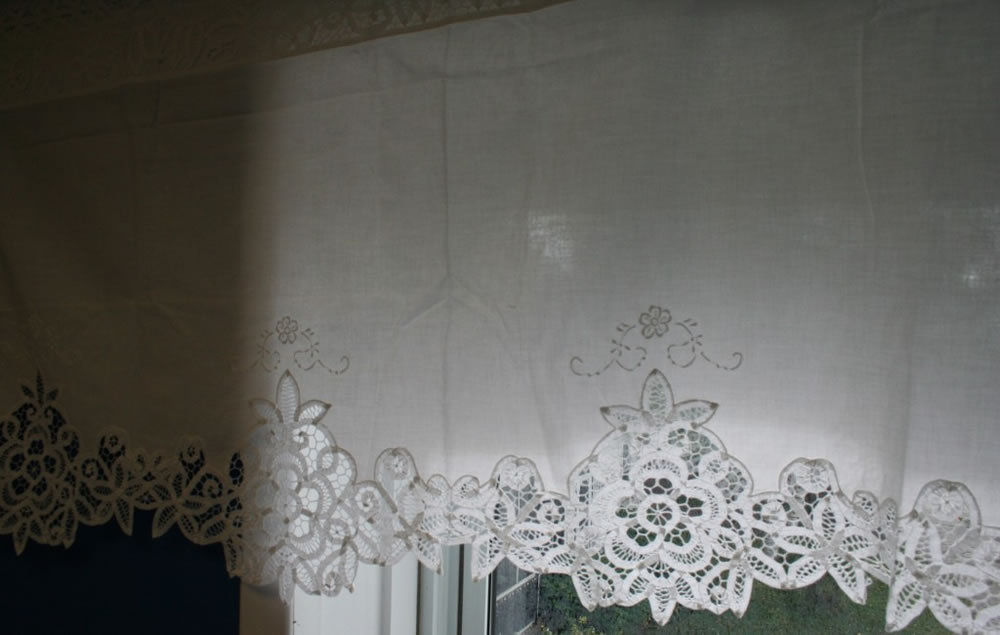 Elite Battenburg Lace Window Treatment