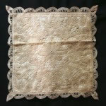 Solid Battenburg Lace Cushion Cover