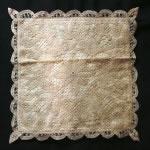 Solid Battenburg Lace Cushion Cover