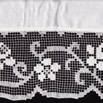 Tuscany Lace hand knotted in quality Cotton valances/cafe pael