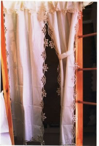 Simply Battenburg Lace Curtain sets and Valances
