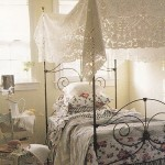 Elaborate Cutwork Bed Cover or Tablecloth can readily be an instant, airy canopy