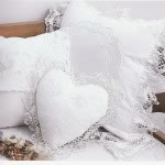 Cluny Lace cushions- the allure of lace