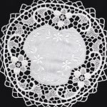 Reticella Lace doily and runners 100% Linen