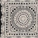 Snowflake Hand Crochet Lace Doily square