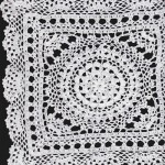 Snowflake Hand Crocheted Cotton Doily-White