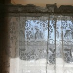 DIY supply- Peony Lace tablecloth as Curtain Panel or Window Covering