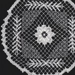 Tuscany Lace Hand knotted doily in white colour