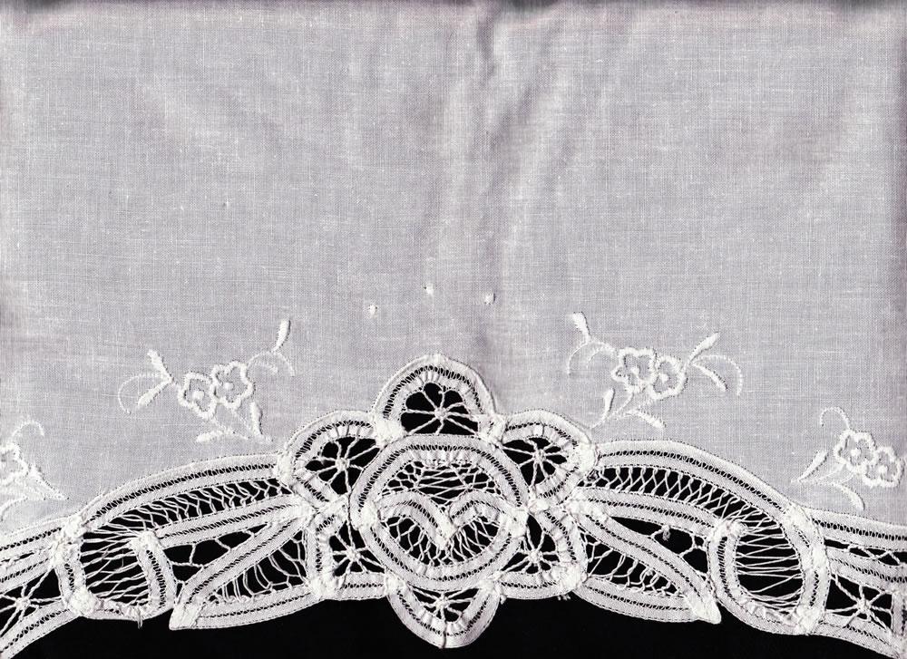 battenburg lace pillow case the lace and linens co