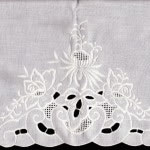 Embroidered Flower Garden Pillow Case