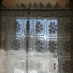 Hand Crochet Lace tablecloth as Curtain Pandel