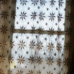 Crochet Lace Variable Star design provides a softer Window covering alternative.