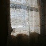 Handmade Crochet Lace Curtain Panel