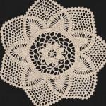 Hand Crocheted Ecru Star Shaped Doily