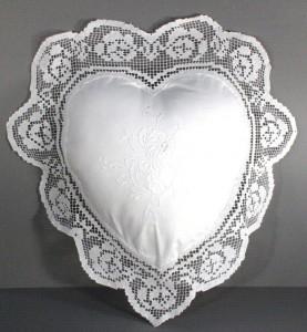 Tuscany Lace Heart Cushion Cover