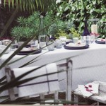 Al Fresco Dining- White Tablecloth an essential for Casual