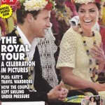 Elegance Crochet Lace Tablecloth is featured on Hello Magazine Cover page of the Royal Tour.