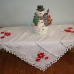 Battenburg Lace pure cotton Poinsettia tablecloth