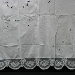 Tuscany lace is a form of decorative netting and perhaps to have originated in Tuscany from the netmaking techniques that a fishing community would require.