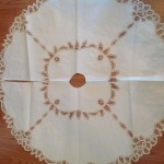Beautifully made Tree Skirt in Battenburg Lace to add elegance of a traditional Christmas. Generous size.