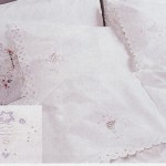 Wedding Bell depicts Cotton rich 3-pieces sheet set delicately accented with Pink or Blue colours and a Batten Tape Lace full lace edge. Well designed & well priced.