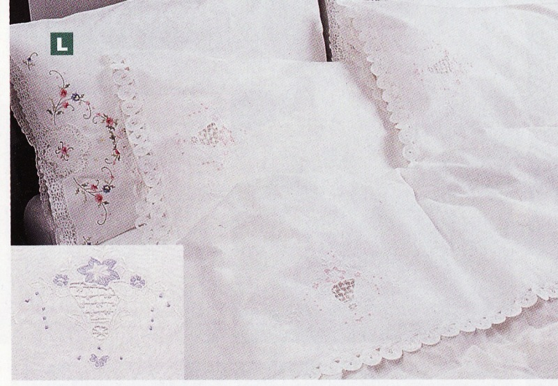 ... Wedding Bell Depicts Cotton Rich 3 Pieces Sheet Set Delicately Accented  With Pink Or Blue