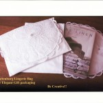 """This larger size 12x16"""" Battenburg Lace Lingerie bag is an elegant way to organize important papers or reading materials while traveling. Or perhaps functions as a Bible holder traveling to church."""