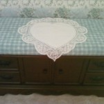 Linda's Designer's touch, easy decorating with a heart shaped tuscany lace pillow cover