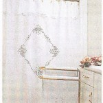 Simply Battenburg Lace shower curtain is available in white or ecru cotton
