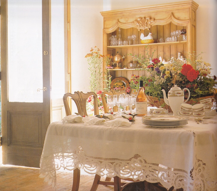 Classic Battneburg Lace Tablecloth For Formal Country Decoration.