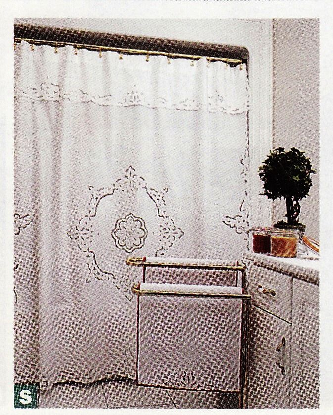 Cutwork Rose Shower Curtain SC1983 4217