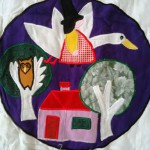 Baby Throw of one favourite Mother Goose Nursery Rhymes: Mother Goose on a Gander..