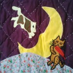 Baby Throw of one favourite Mother Goose Nursery Rhymes: Hey Diddle Diddle Cat and the Fiddle The Cow Jump Over the Moon..
